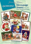 Giordano Father Christmas Decoupage Sheets