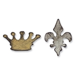 Tim Holtz / Sizzix Movers & Shapers Magnetic Die Set - Mini Crown & Fleur Set