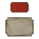 Tim Holtz / Sizzix Movers & Shapers Magnetic Die Set - Mini Tickets Set