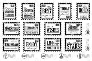 Adventure Mini Postage Stamps