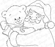 Santa and Teddy Portrait
