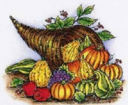 Cornucopia With Gourds
