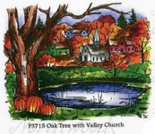 Oak Tree With Church