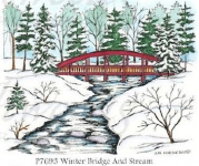Winter bridge and stream