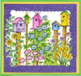 Spring Birdhouses with Flowers
