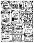 Vintage Bottle Labels Background