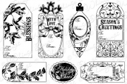 Vintage Holiday Gift Tag Sentiments