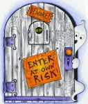 Enter At Your Own Risk Door