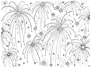 Fireworks Background Block