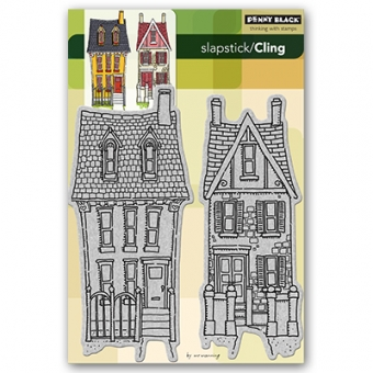 """Penny Black Cling """"victorian home"""""""