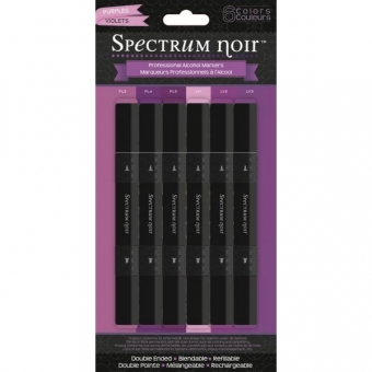 Spectrum Noir Stifte Set - Purples