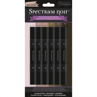 Spectrum Noir Stifte Set - Warm Greys
