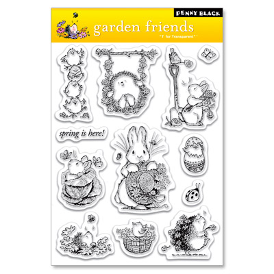 "Penny Black ""garden friends"""