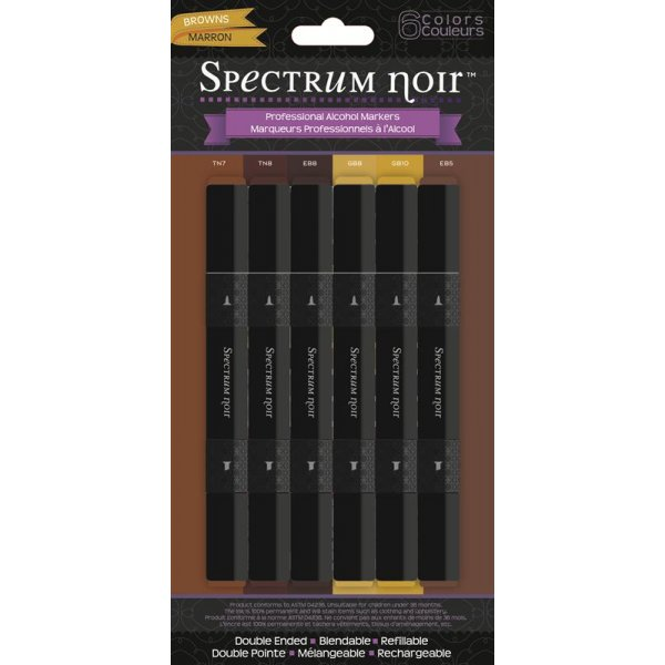 Spectrum Noir Stifte Set - Browns