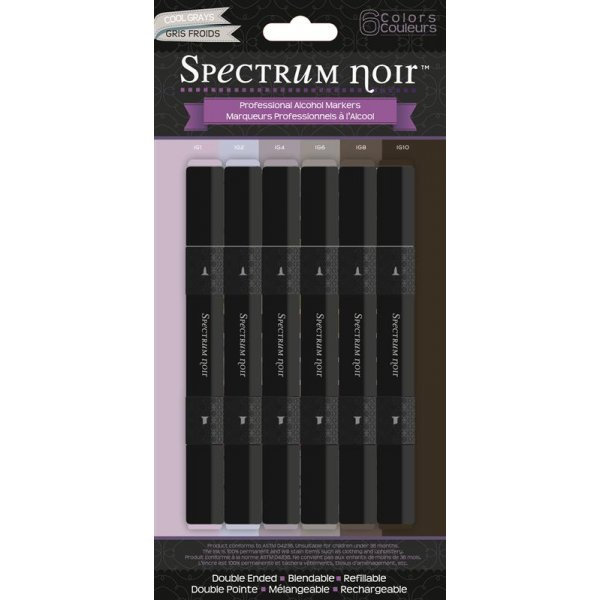 Spectrum Noir Stifte Set - Cool Greys