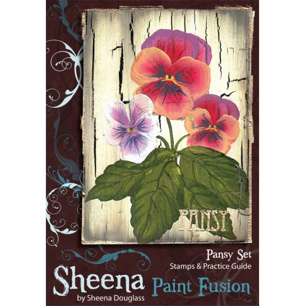 Paint Fusion Stamp - Pansies